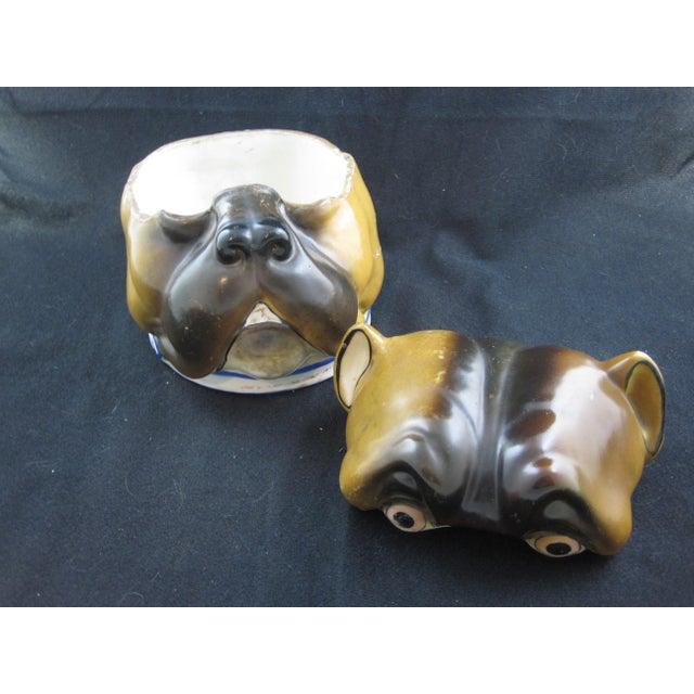 English Staffordshire Bulldog Covered Porcelain Jar - Image 8 of 9