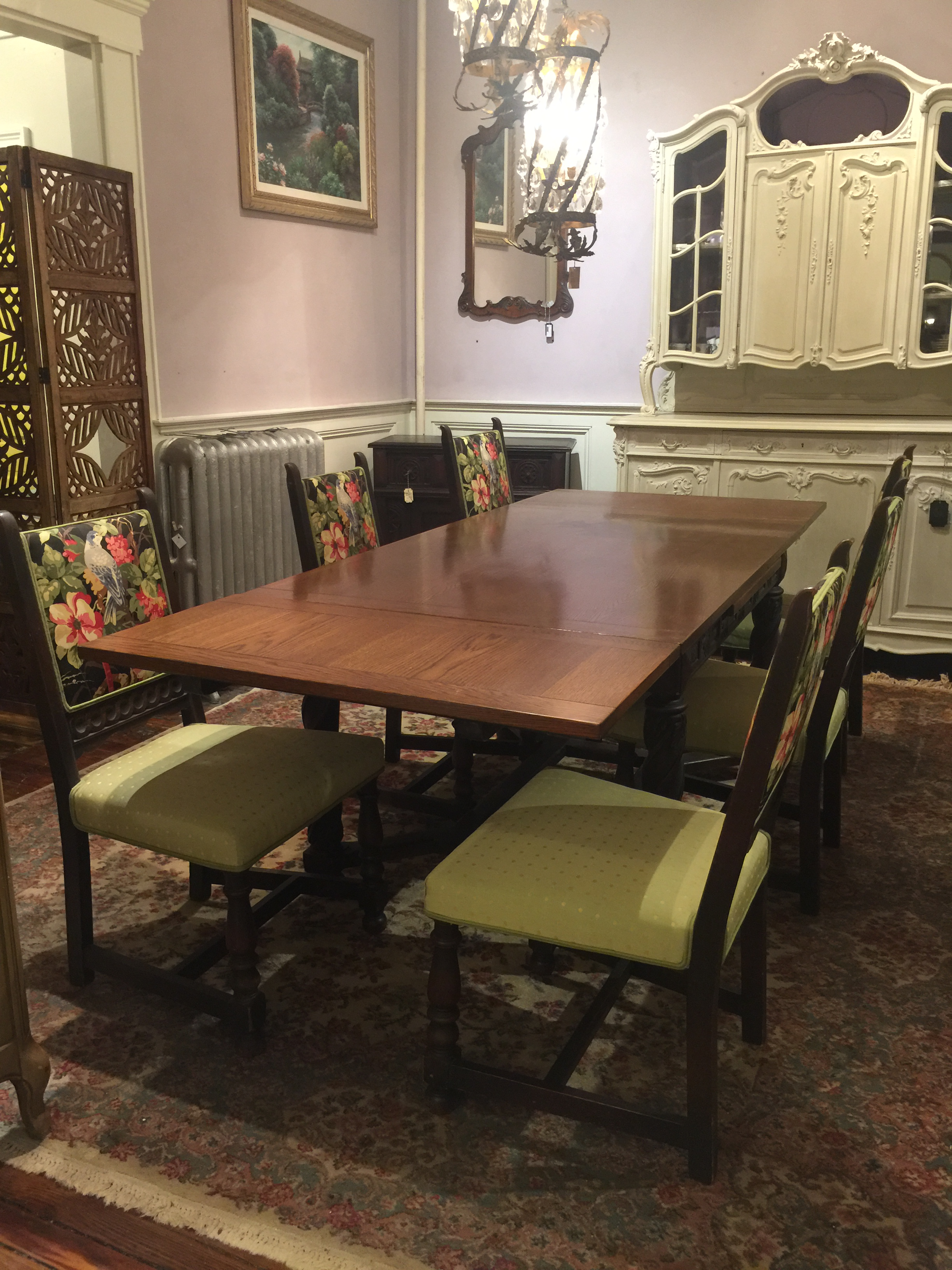 Incroyable This Is An Antique Jacobean Refectory Dining Table With Expandable Leaves.  The Table Without The