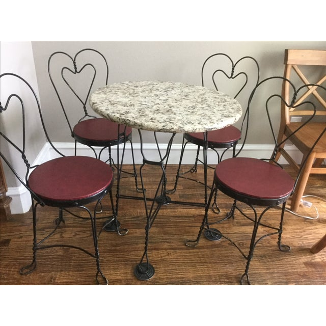 Vintage Ice Cream Parlor Dining Set - Image 3 of 7