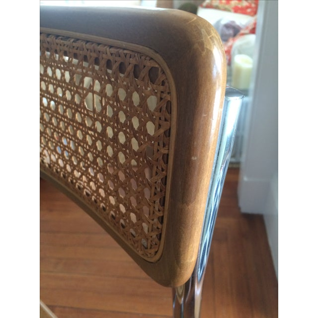 Marcel Breuer Style Cesca Bar Stool - A Pair For Sale In Providence - Image 6 of 7
