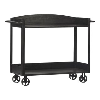 Industrial Gunmetal Cart