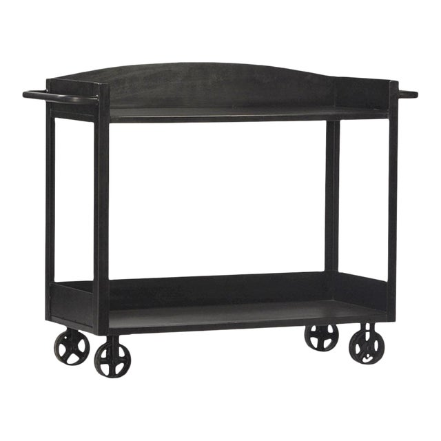 Industrial Gunmetal Cart For Sale