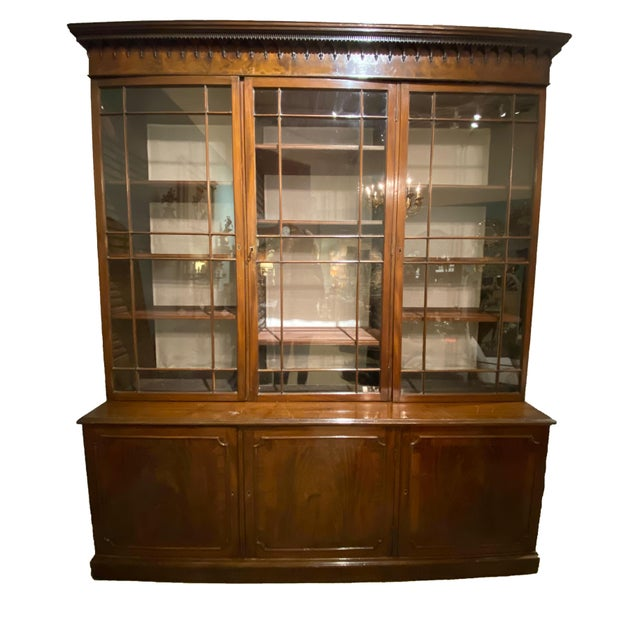18th Century Chippendale Breakfront For Sale - Image 9 of 10