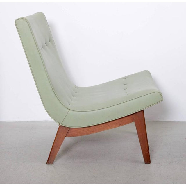 Milo Baughman Original Pair of Milo Baughman Scoop Lounge Chairs USA , 1950s For Sale - Image 4 of 6