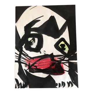 "Large Original Robert Cooke ""Mickey the Cat""Painting For Sale"