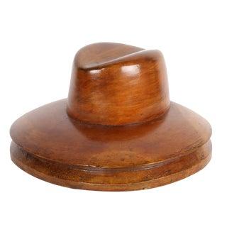 "Vintage Millinery Hat Block ""Fedora"" For Sale"