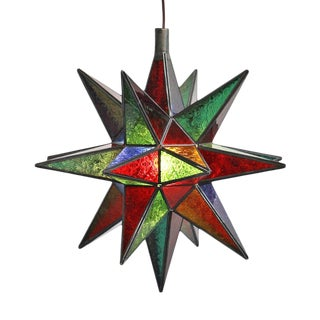 Colorful Moravian Star Lamp For Sale
