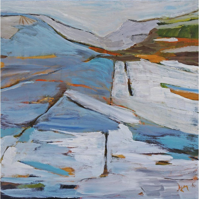 Land Lines was inspired by the artist's many trips to the Sierra, and her lifelong love of mountains. This acrylic...