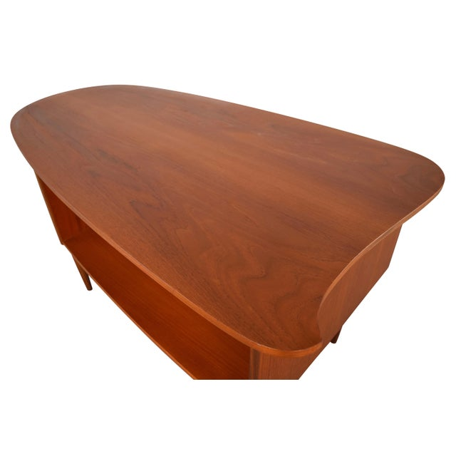 Vintage Danish Modern Teak Kidney Desk in the Style of Kai Kristiansen Model 54 - Image 6 of 8