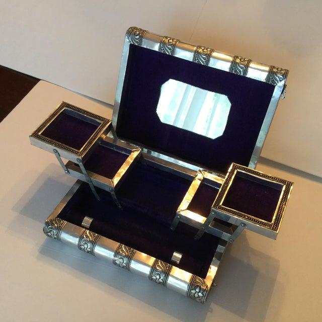 Silver Metal Jewelry Box - Image 10 of 11