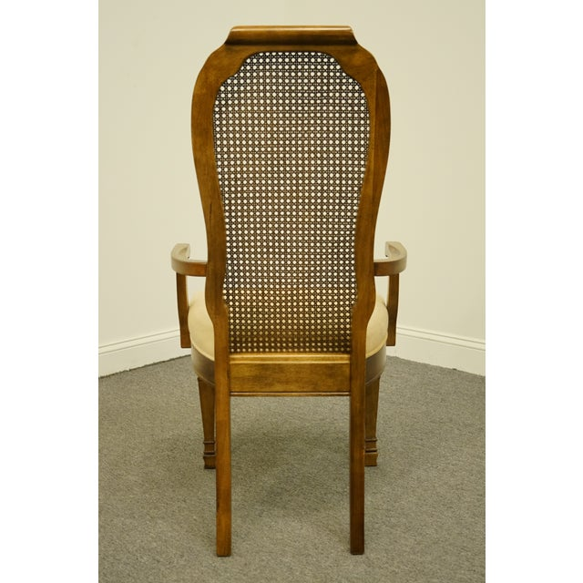 Wood Late 20th Century Bernhardt Furniture Italian Provincial Cane Back Dining Arm Chair For Sale - Image 7 of 11