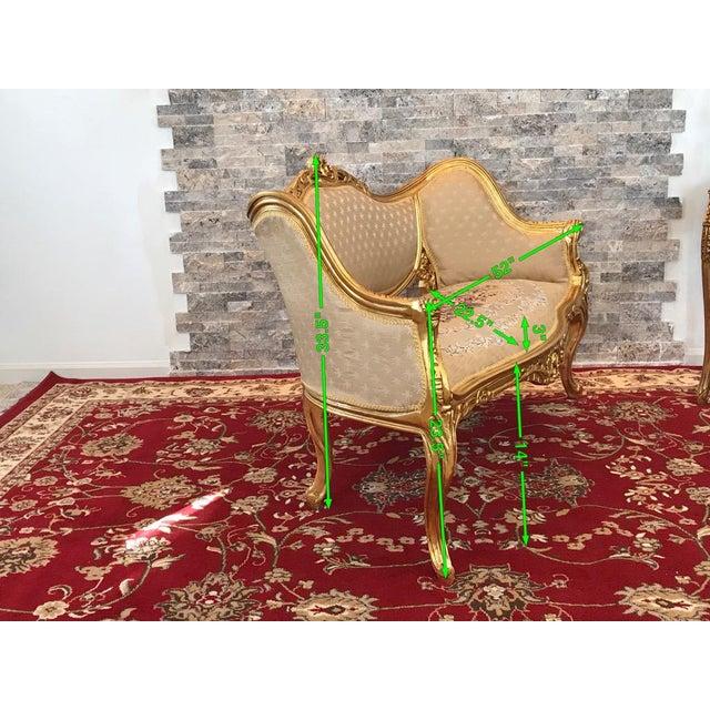 Modern Louis XV Love Seat For Sale In Philadelphia - Image 6 of 7