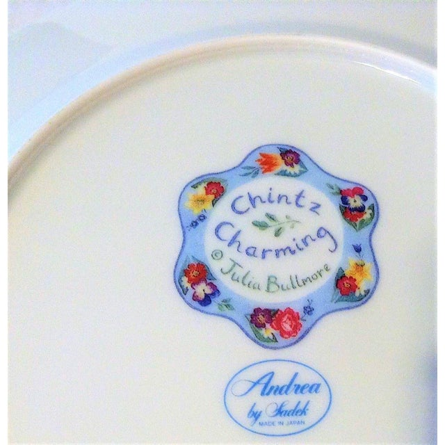 Set of 4 Vintage Floral Chintz Plates For Sale In Houston - Image 6 of 6