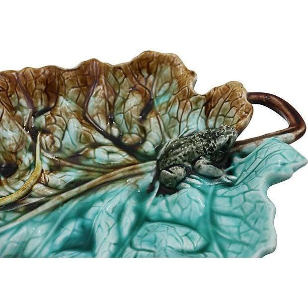 Antique Majolica Dish w/ Frog & Lizard - Image 4 of 5