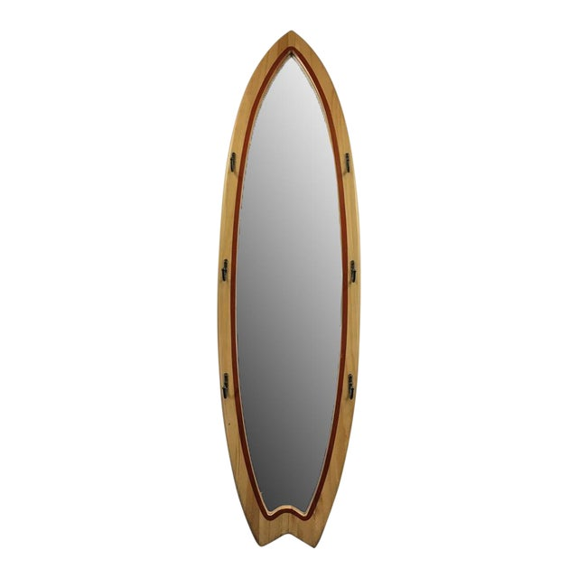 Surfboard Shaped Floor Mirror For Sale