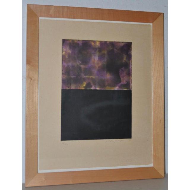 Blue Yutaka Yoshinaga Color Etching W/ Spit Bit Aquatinti C.1996 S/N Edition of 40 For Sale - Image 8 of 8