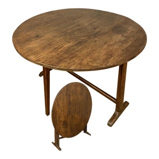 Tilt Top Table, 19th Century French Country For Sale