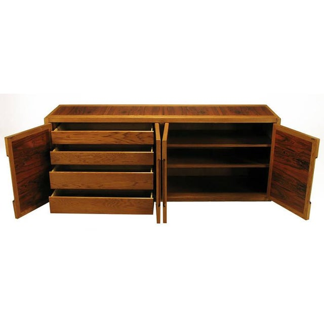 Dunbar Furniture Dunbar Rosewood and White Oak Credenza For Sale - Image 4 of 10