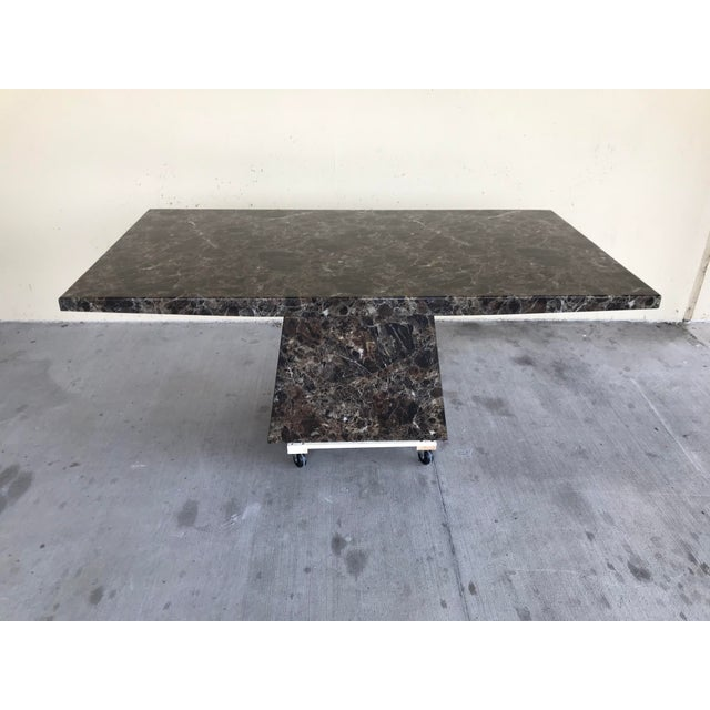Maurice Villency Style Marble Dining Table For Sale - Image 9 of 13
