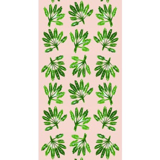 Mitchell Black Little Palms Peel & Stick Wallpaper For Sale