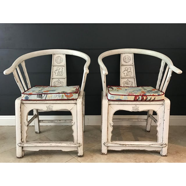 White Ming Side Chairs - A Pair - Image 7 of 8