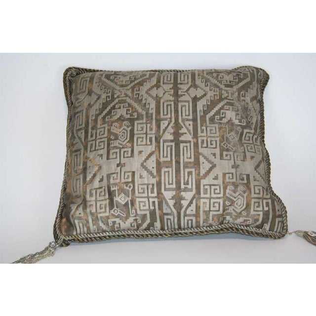 Mid-Century Modern Vintage Fortuny Pillow For Sale - Image 3 of 7