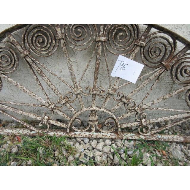 Antique Victorian Iron Garden Gate Window - Image 3 of 6