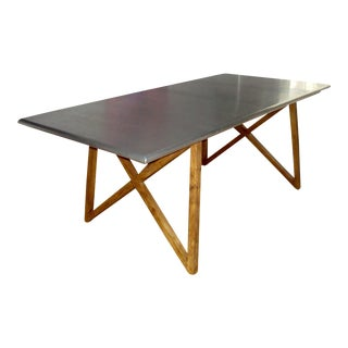 Industrial Aluminum/Wood Dining Table