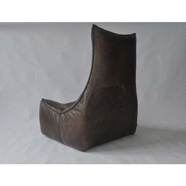 Animal Skin 1970s Leather Chair by Gerard Van Den Berg for Montis For Sale - Image 7 of 9