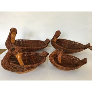 Wicker Duck Nesting Baskets/Containers - Set of 4 Preview