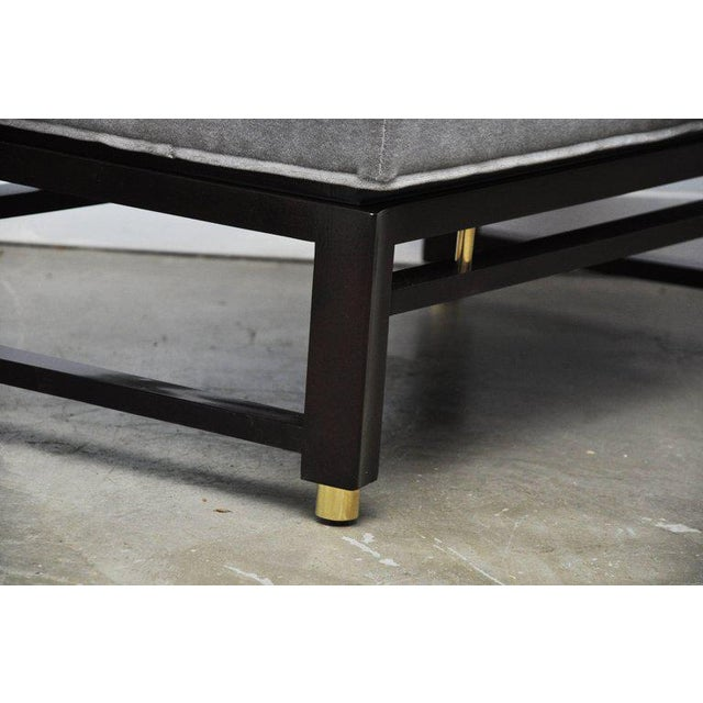 Dunbar Furniture Dunbar Benches by Edward Wormley with Brass Accents For Sale - Image 4 of 7