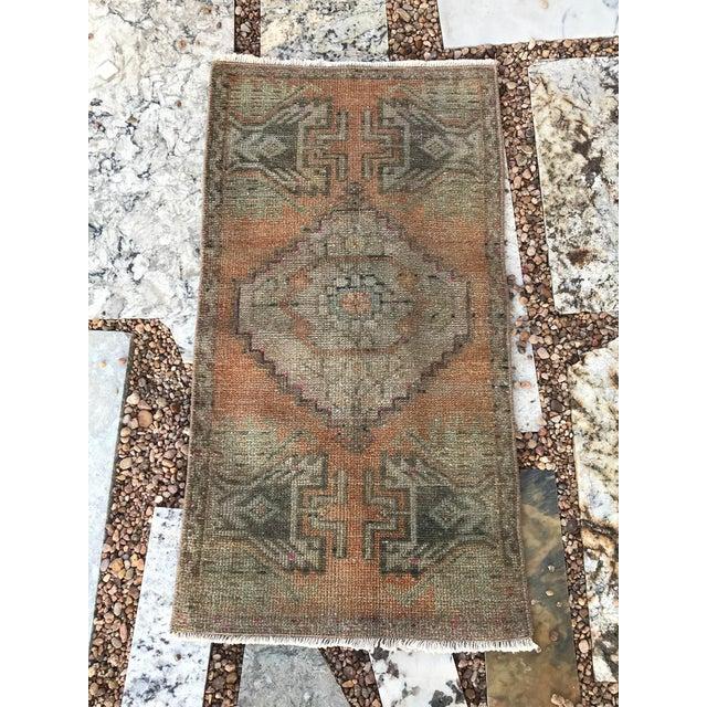 "Tribal Hand Made Turkish Yastik Rug With Nomadic Design- 1'6"" X 2'10"" For Sale - Image 3 of 7"