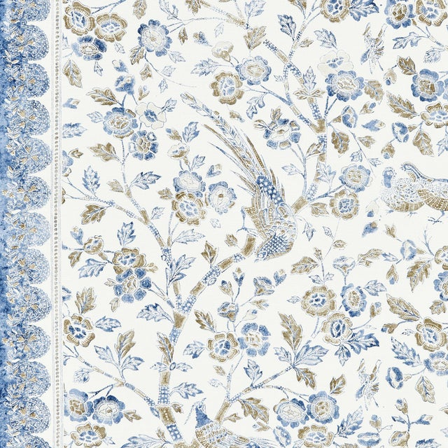 From the Scalamandre Pacficia Collection, Printed fabrics.