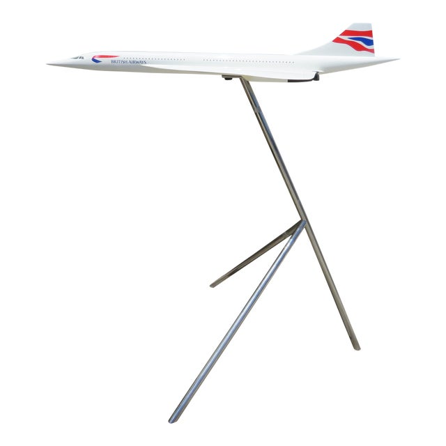 Large-Scale Concorde Jet Model, on Stand For Sale