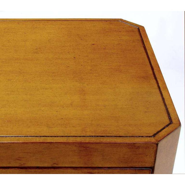 Nancy Corzine Glazed Maple X-Based Art Moderne Console Sideboard For Sale - Image 9 of 11