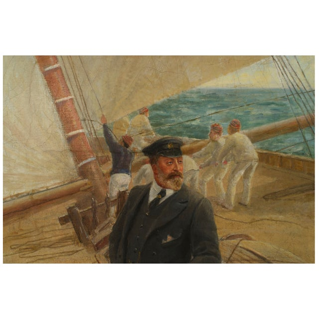 """Illustration """"On the Britannia"""" Oil Painting by Tom Henry For Sale - Image 3 of 7"""
