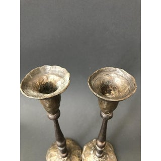 Hammered Bronze Candlestick Holders, France - a Pair Preview