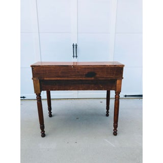 Antique Primitive Pine Step-Top Writing Table Preview