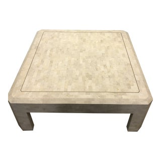 1970s Mid-Century Modern Tessellated Fossil Coffee Table For Sale