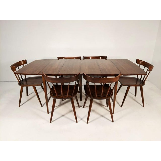 Mid Century Modern Paul McCobb Solid Maple Drop Leaf Dining Set - 7 Pieces For Sale - Image 13 of 13