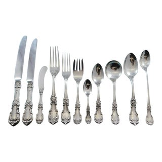 Burgundy by Reed & Barton Sterling Silver Flatware Set 12 Service 150 Pcs Dinner For Sale