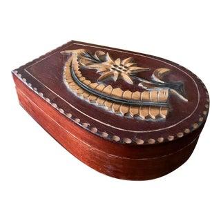 Mid Century European Travel Mirrored Trinket Box - Krosna For Sale