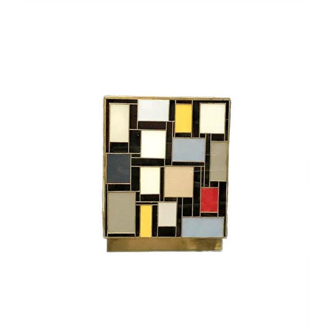 MarGian Studio Mondrian Glass Side Table by MarGian Studio For Sale - Image 4 of 5
