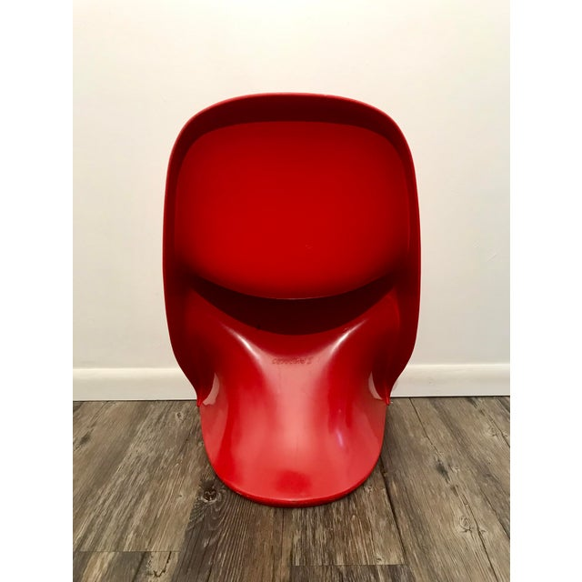 1970s Space Age Casala Casalino Red Stacking Child's Chairs - Set of 4 For Sale - Image 9 of 12