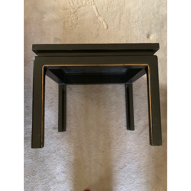 20th Century Asian Hand Painted Square Accent Table For Sale - Image 10 of 13