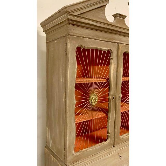 Traditional John Widdicomb Sunburst Front Secretary Desk For Sale - Image 3 of 11