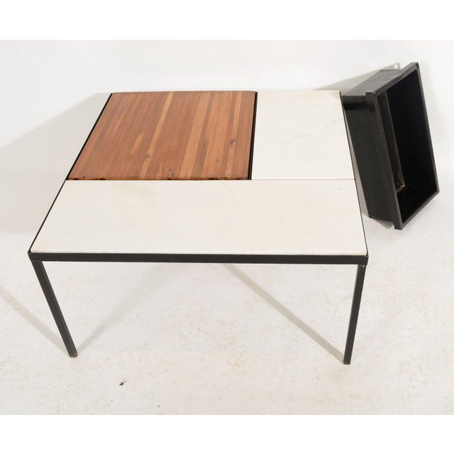 Marble Top Coffee Table Indoor Outdoor Table With Planter Box For Sale - Image 4 of 5