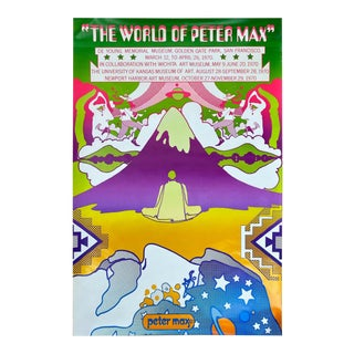 "Peter Max ""The World of Peter Max"" Museum Exhibition Serigraph Poster 'B', 1969 For Sale"