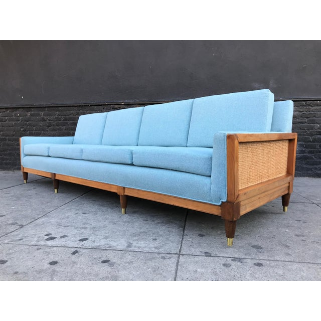 Stunning mid century vintage huge long sofa,, from the early 60's. This sofa is amazing!! It was restored, new upholstery...