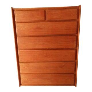 1970s Mid Century Teak Highboy Dresser For Sale